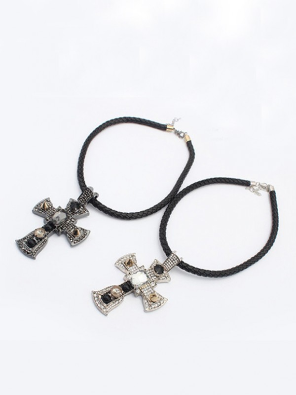 Occident Punk Retro Cross Vendita calda Collane