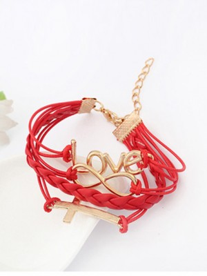Korean version Romantic Password love Cross Vendita calda Bracciali