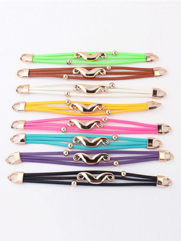 Occident Fluorescent colori Major suit Mustache Vendita calda Bracciali