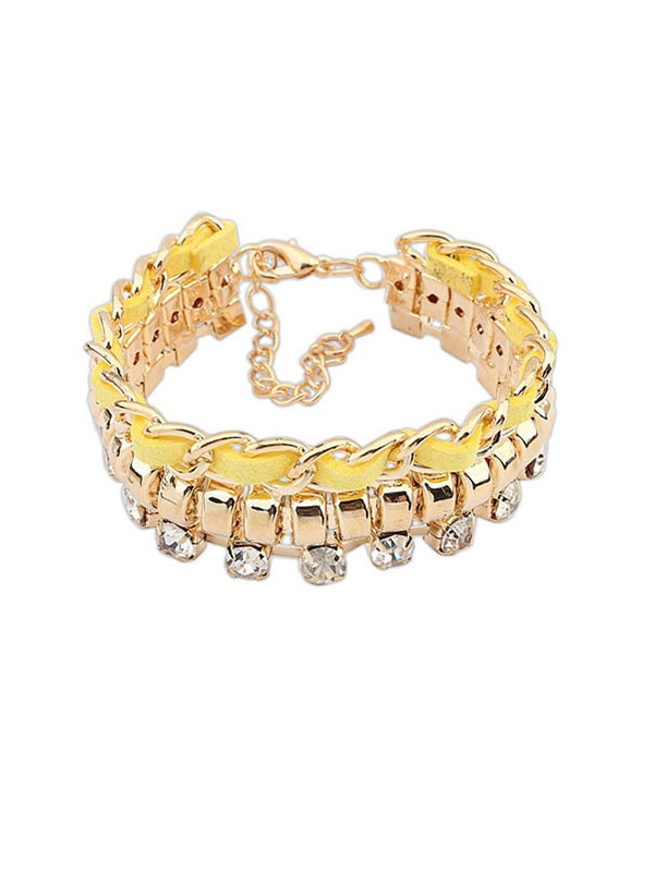 Occident Modeable Neu Flash Drilling Woven Vendita calda Bracciali