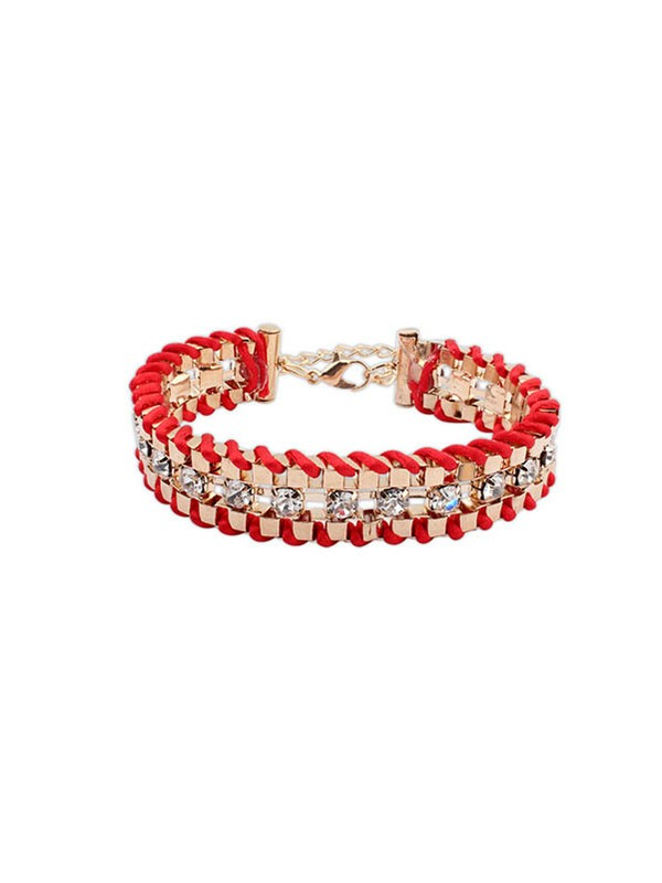 Occident Ethnic Customs Woven Strass Vendita calda Bracciali